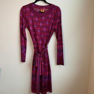 TORY BURCH | Audra Long Sleeve Silk Dress